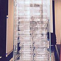 Glass Cabinet with Zero G Acrylic Racking Thumbnail 1