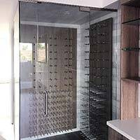 Custom Glass Cabinet with Peg Racks Thumbnail 1