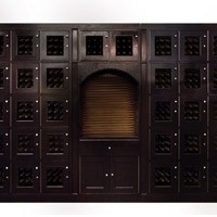 Mahogany Custom Wine Locker Thumbnail 1