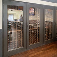 Custom Wine Cabinets Skyloft Restaurant, Laguna Beach, CA. Thumbnail 1