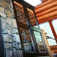 Stone Cliff Inn Wine Glass Cabinet Thumbnail 1
