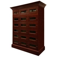 Custom Wine Locker with Cornice Thumbnail 1