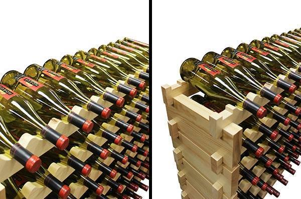 Modular Wine Rack Close-Up