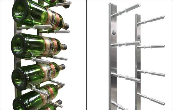 Stainless Peg Wine Rack Close-Up