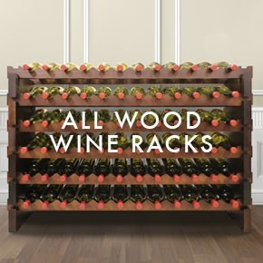 All Wood Wine Racks