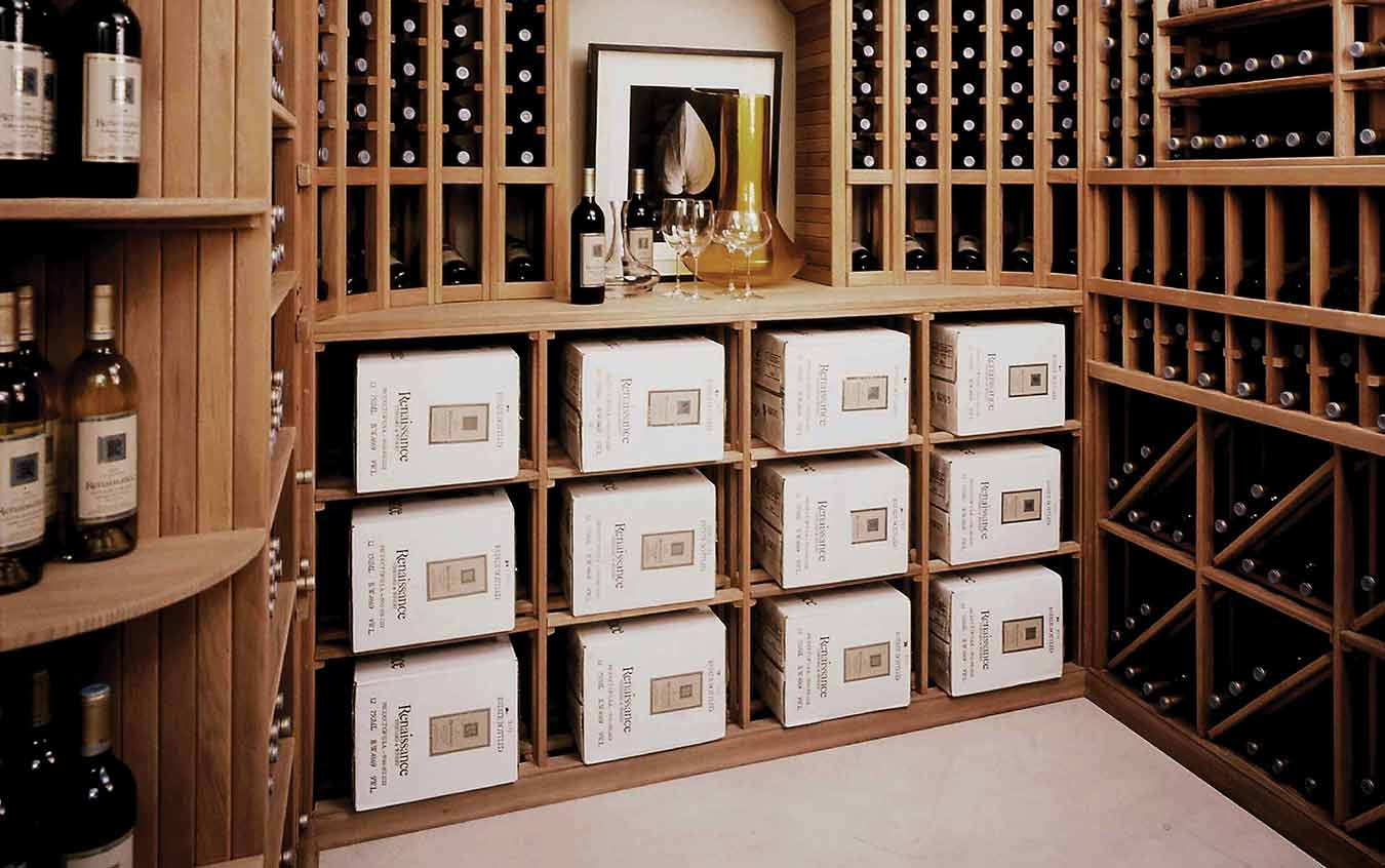 Wine Cellar with all wood racking